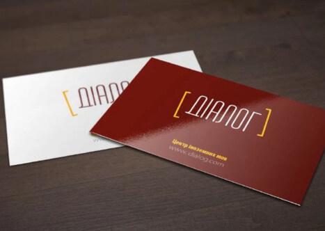 На фото две визитные карточки разработанные компаниею Exclusive